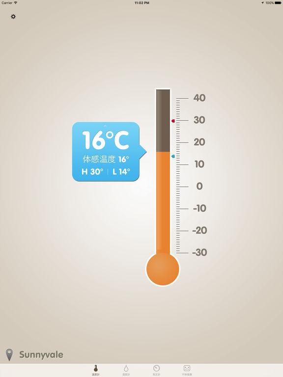 温湿度計 (気圧計,不快指数) Screenshot