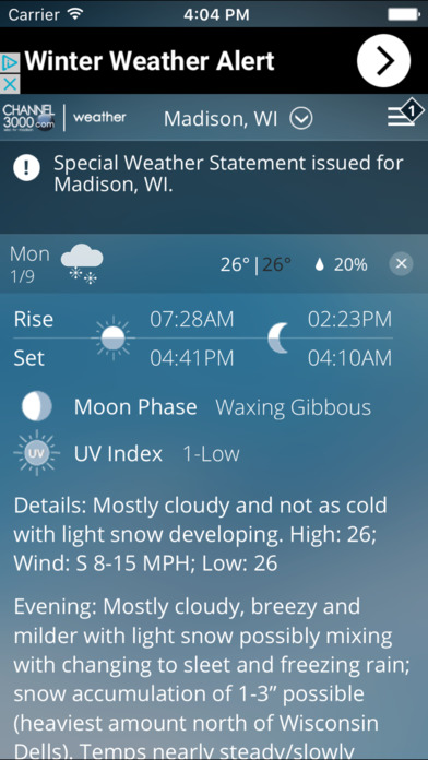 App Shopper Channel 3000 WISC TV News 3 Weather Weather
