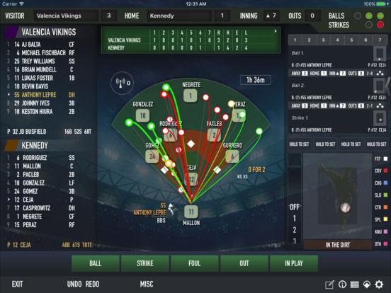 iScore Baseball / Softball Scorekeeper iPad