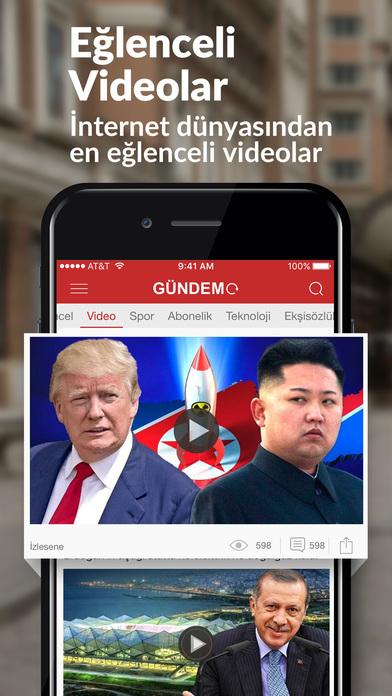 GÜNDEM: Son Dakika Haber, Pop Videolar & Gazeteler Screenshot