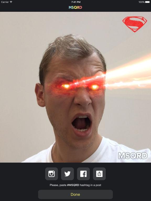 MSQRD — Живые эффекты и обмен лицами Screenshot