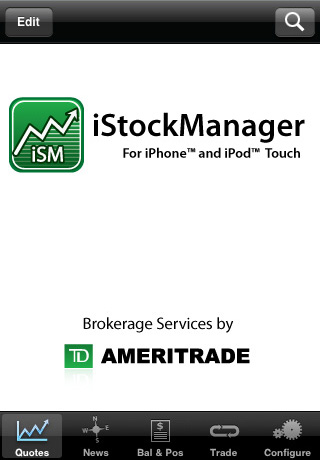 iStockManager - Brokerage Services by TD AMERITRADE