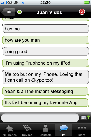 Truphone (with Skype calling)