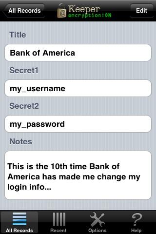 Keeper™ - Password & Data Vault