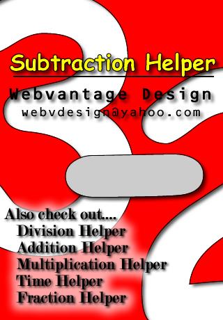 Subtraction Helper