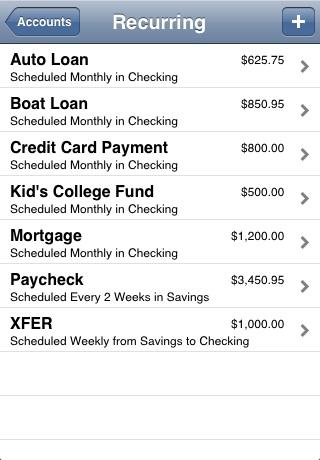 Accounts - Checkbook