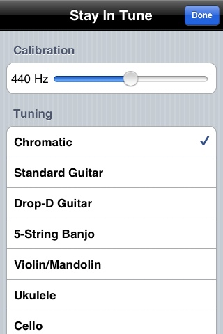 Stay In Tune - Chromatic tuner