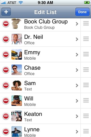 mFavorites - Photo Dialer/Email/Text Messaging