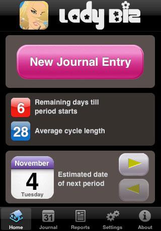 Lady Biz (Period Calendar)