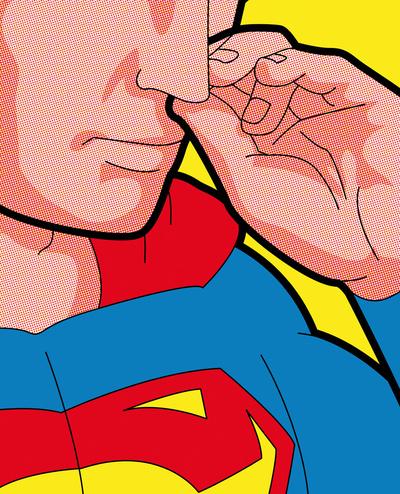 The secret life of heroes - Super bogies Art Print