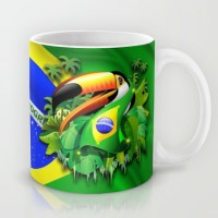 Toco Toucan with Brazil Flag ~ SOLD 6 Mugs ~ Thank You!