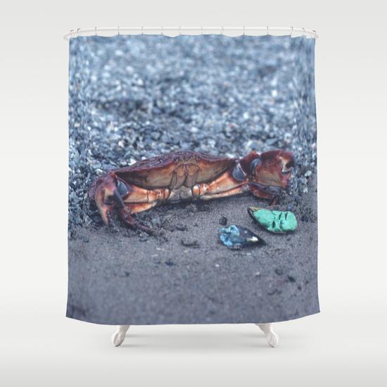 A Shore Crab Shower Curtain