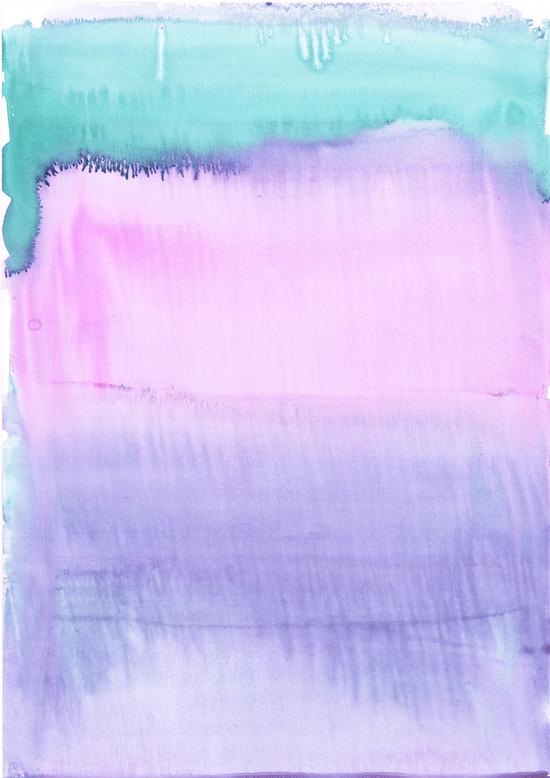 Watercolour Pastel Art Print