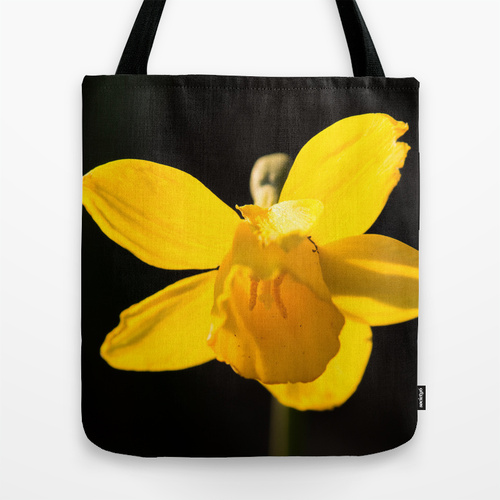 daffodil yellow flower bag tote purse Society6 gift photograph Jessica Pei