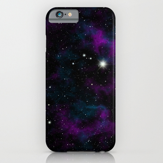 Blue and Purple Galaxy iPhone & iPod Case
