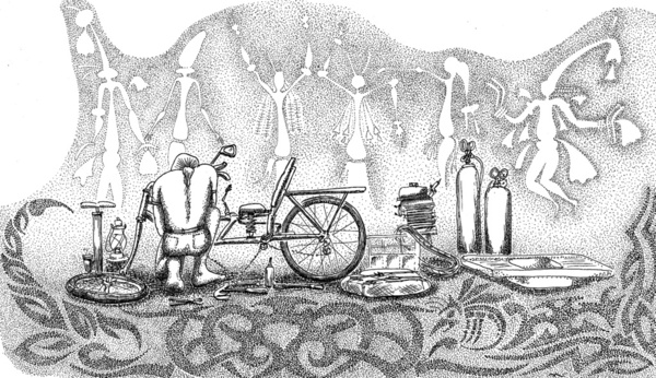 Cycling in The Outback on Society6