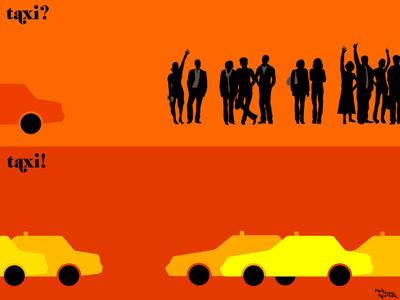 le taxi Art Print