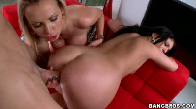 Step Mom And Her Daughter In Threesome