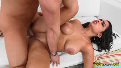 Big Titted Latina Takes Facial Cumshot