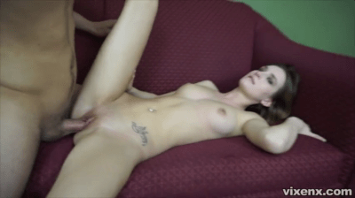 Blondie Babe Spends Fun Time On The Couch
