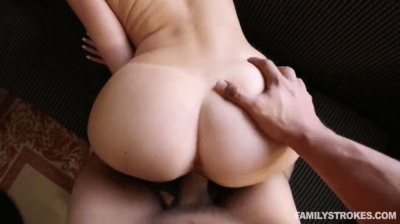 Bubble Butt Step Sister Takes On Step Brother Cock