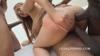 Massive Cocks Destroy One Tiny Whores Pussy