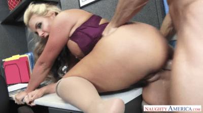 Busty Blonde Hardcore Office Sex With Slutty Boss