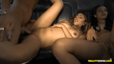 Backseat Three-Way Banging