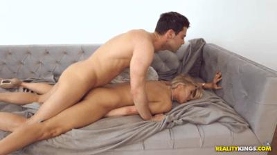 Busty Blonde Milf Covered In Cum