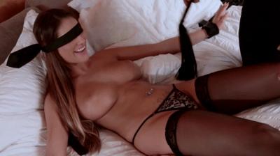 Blindfolded Brunette Hottie