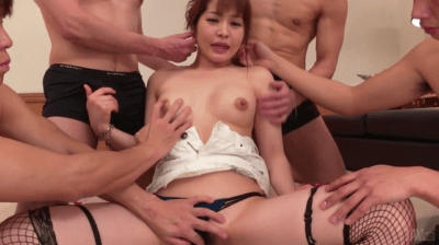Japanese Milf Ends Group Porn With Asian Cum In Face