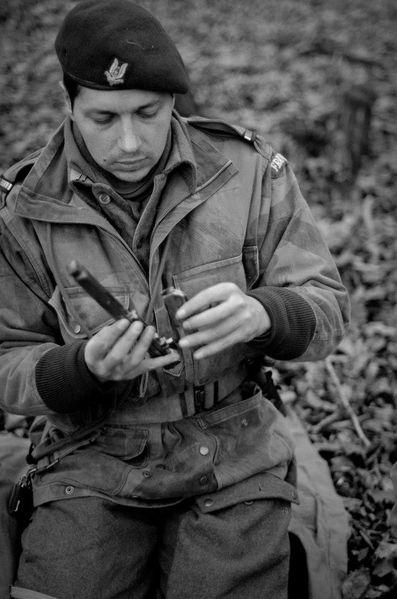 Reconstitution d'un para SAS français de 1944 (Image blog 22sas12).