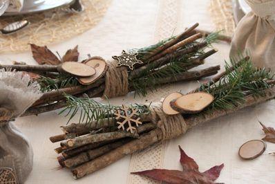 Fagots de bois décoratifs