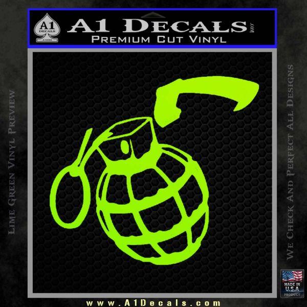 Grenade car decal