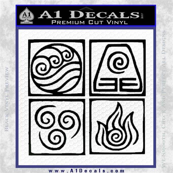 Avatar Movie Logo: Avatar The Last Airbender Vinyl Decal » A1 Decals