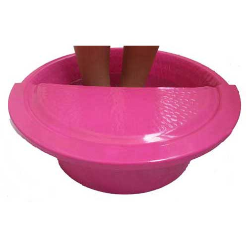 Fuschia Massage Pedicure Spa Therapy Bowl Foot Rest