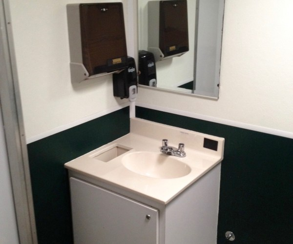 Large Restroom Trailer Rentals DE - Inside sinks