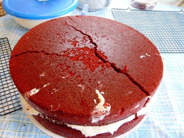 cake cracked on top saving