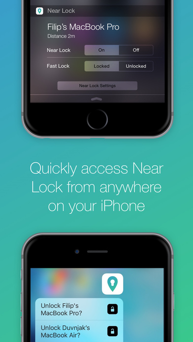 Near Lock - Sperren & Entsperren Sie Ihren Mac Screenshot