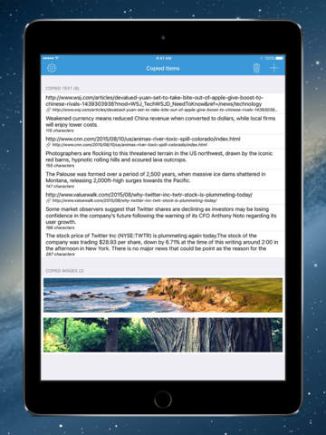 Copyfeed - take control of your clipboard Screenshot