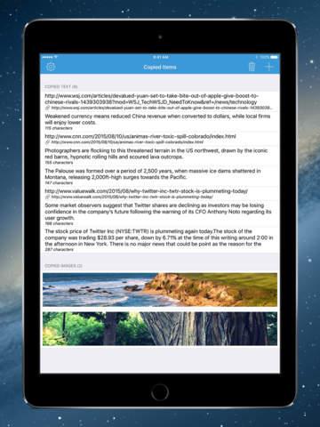 Copyfeed - take control of your clipboard Screenshot