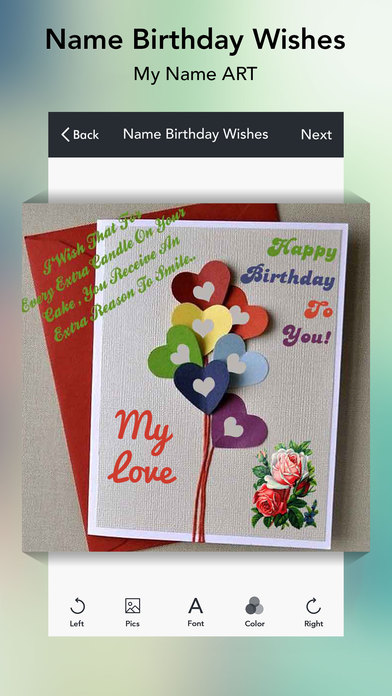 App Shopper Name Birthday Wishes Greetings Photography