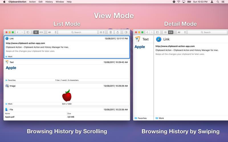 Clipboard Action for Mac 1.3.1 激活版 - 智能剪贴板历史管理器