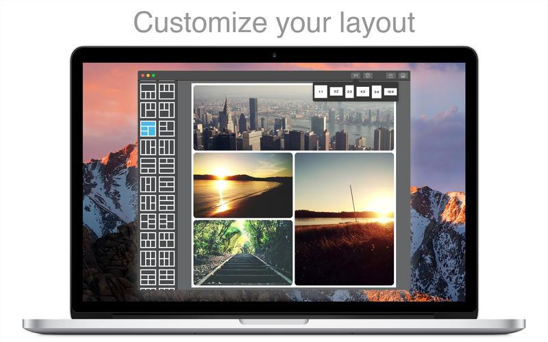 PicFrame for Mac 2.8.4 破解版 - Mac上优秀易用的图片拼贴软件