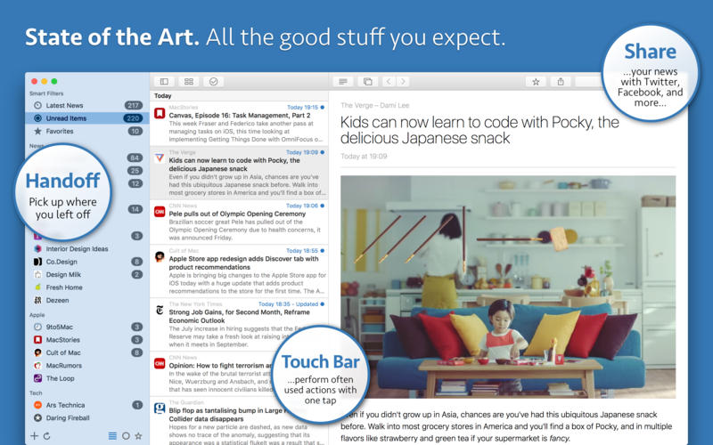 News Explorer for Mac 1.8.15 激活版 - 优秀的新闻订阅客户端