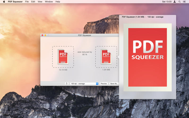 PDF Squeezer Compress
