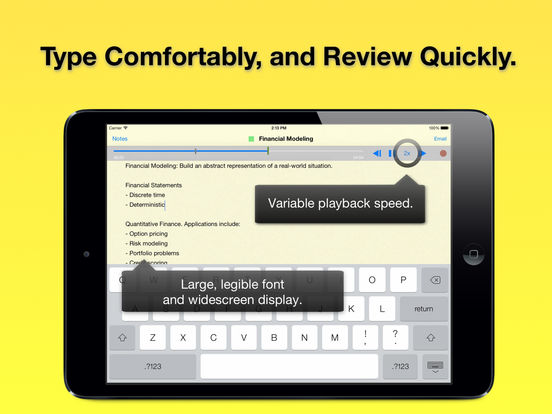 Audio Notebook: All-Day Sound Recorder, Widescreen Notepad, and Color Coded Note Organizer iPad