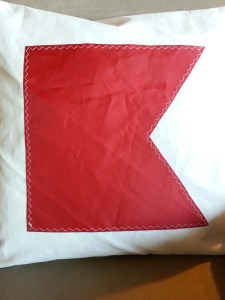 B Code Flag Sailcloth Pillow