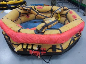 Magnolia's old Switlik life raft - partially inflated