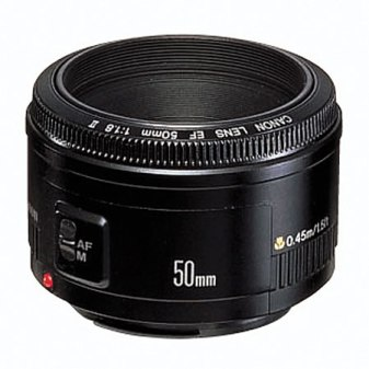 The Canon EF 50 mm f/1.8 II Lens.